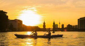 Ahoi Ostkreuz Kajak Kayak fahren Sundowner
