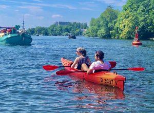 Kajak Kayak fahren Berlin Ostkreuz Rummelsburger Bucht Ahoi Ostkreuz