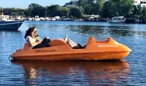 Tretboot fahren Berlin Rummelsburger Bucht Ostkreuz Kajak Kayak Ahoi Ostkreuz