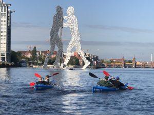 Ahoi Ostkreuz Berlin Tour Gruppen Schulklassen Betriebsausflug Kajak Kayak Rummelsburger Bucht